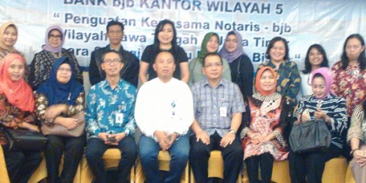 Kerjasama Penguatan Bank  BJB Dan Notaris Wilayah Jawa Tengah Dan Jawa Timur